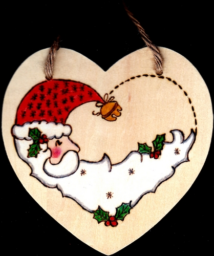 Christmas Hearts - Danette Smiths Pyrography and Easels